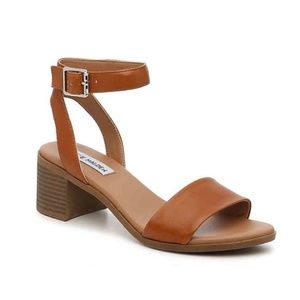Steve Madden Kemmy Brown Strappy Leather Sandals